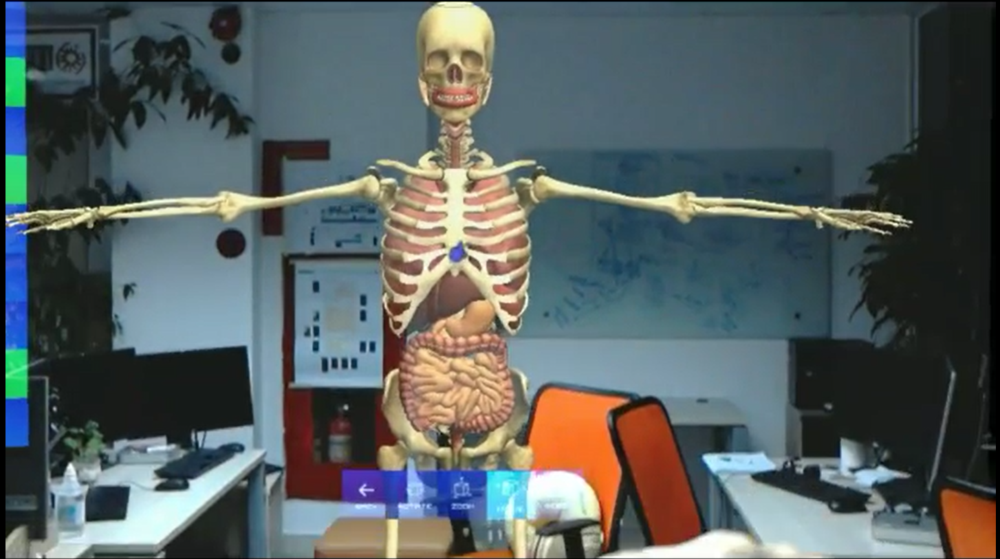 Human Anatomy on HoloLens Demo